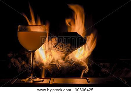 Wine Glass Fire