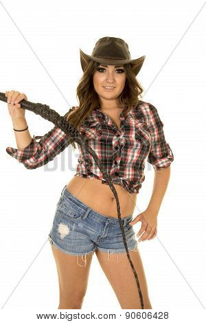 Cowgirl With A Whip