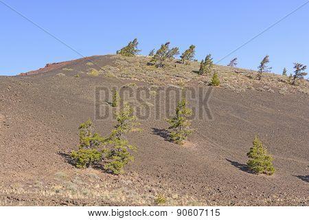 Barren Landscape On A Volcanic Cinder Cone