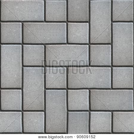 Gray Paving  Slabs Imitates Natural Stone.
