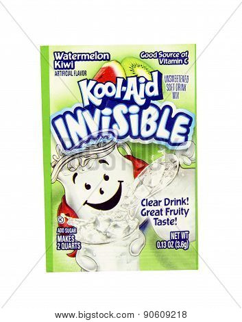 Package Of Watermelon Kiwi Flavored Kool-aid