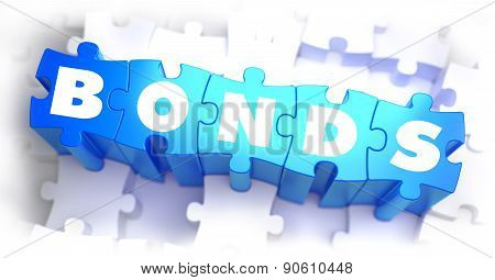 Bonds - White Word on Blue Puzzles.