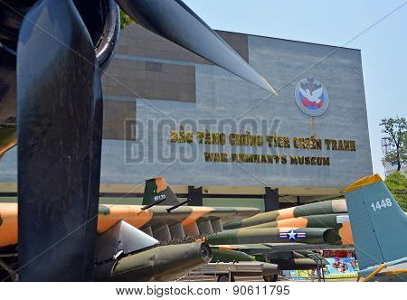 American War Planes Outside War Remnants Museum, Saigon