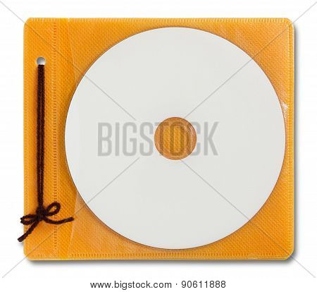 Blank Dvd Case And Disc Isolated On White