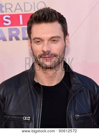 LOS ANGELES - MAR 29:  Ryan Seacrest arrives to the 2015 iHeartRadio Music Awards  on March 29, 2015 in Hollywood, CA