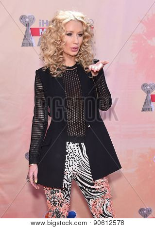 LOS ANGELES - MAR 29:  Iggy Azalea arrives to the 2015 iHeartRadio Music Awards  on March 29, 2015 in Hollywood, CA