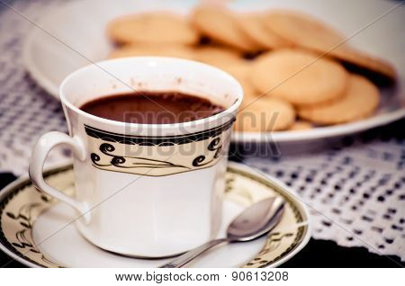 Hot coffee and cakes for good morning