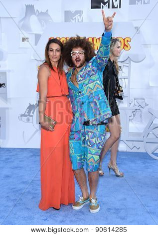 LOS ANGELES - APR 12:  Redfoo arrives to the MTV Movie Awards 2015  on April 12, 2015 in Hollywood, CA