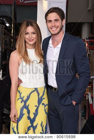 LOS ANGELES - APR 06:  Melissa Benoist & Blake Jenner arrives to the