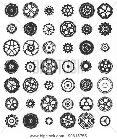 Set Of 42 Gears