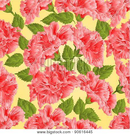 Seamless Texture Pink Hibiscus Vector