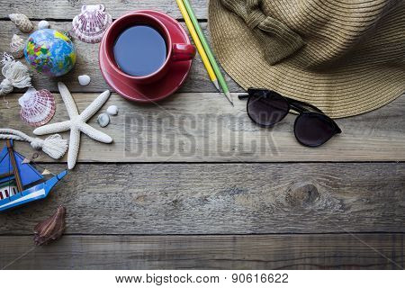 Travel Planning On Wooden Background