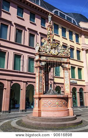Famous Market Fountain In Mainz