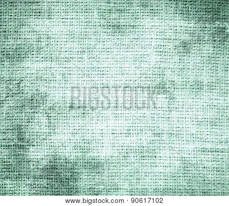 Grunge background of aero blue burlap texture