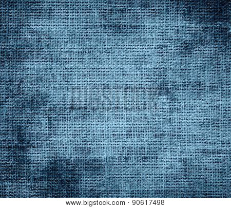 Grunge background of Air Force blue (RAF) burlap texture