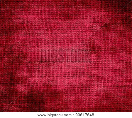 Grunge background of alabama crimson burlap texture