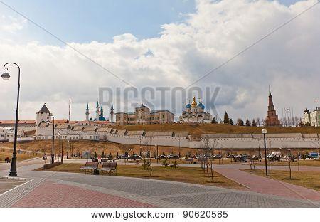 View Of Kazan Kremlin, Russia. Unesco Site