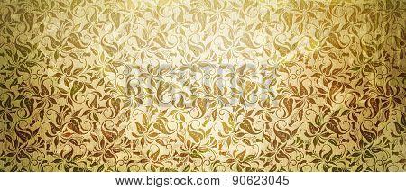 Old Floral Paper Background.