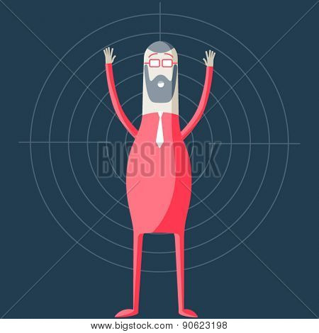Vector illustration of abstract funny characters. Modern concept of loser hipster blogger
