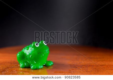 Green Plastic Rubber Frog