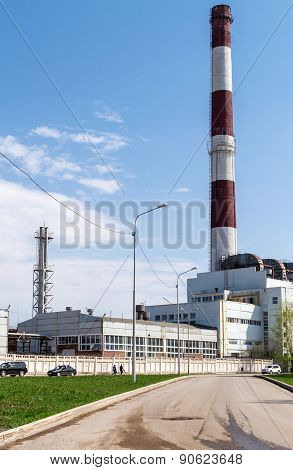 Industrial Building And Chimney