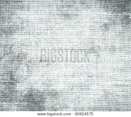 Grunge background of azure mist burlap texture