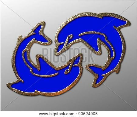3D Dolphin Symbol