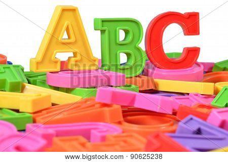 Plastic Colored Alphabet Letters Abc