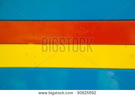 Some Bright Multi-colored Wooden Planks Arranged Horizontally