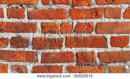 Texture Of Ancient Red Brick Wall