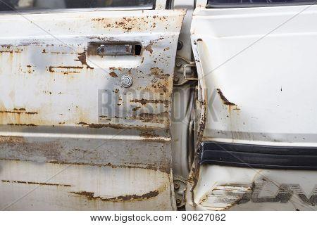 Door Of The Car Is Very Old