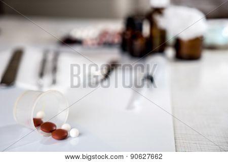 pills and medical bottle