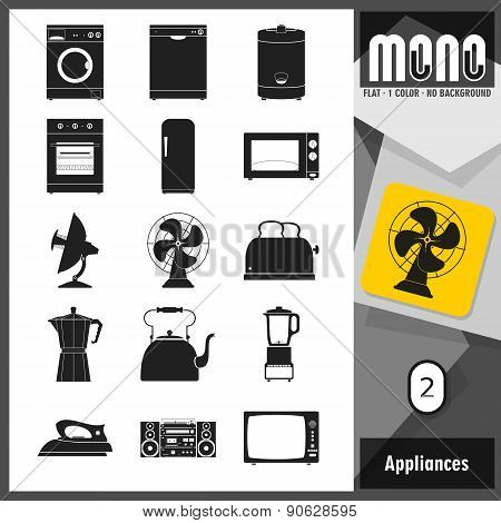 Mono Icons - Appliances 2