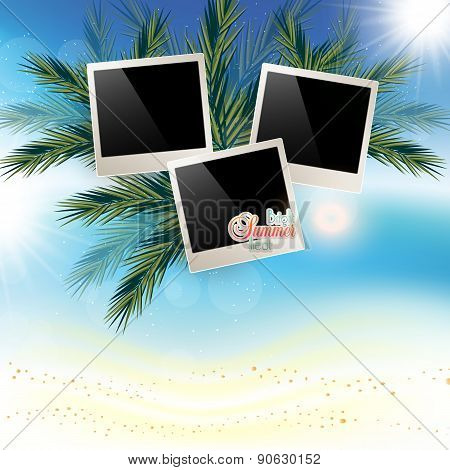 Solar Gierki Day With Photos Onmarine Abstract Background With Sand And Place For Photos. The Golden