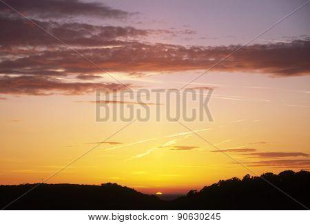 Dorset sunset, UK