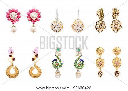 Collection of diamond earrings