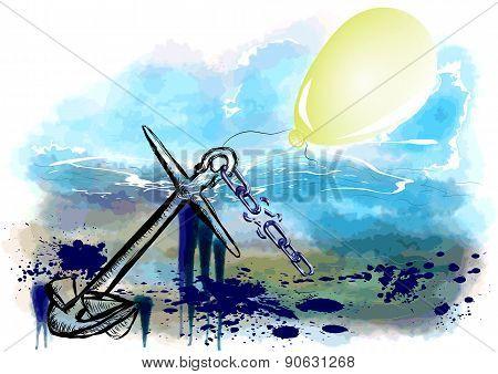 Ancor And Balloon