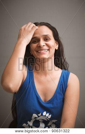 Happy smiling beautiful indian woman