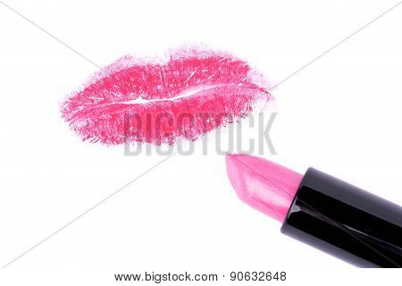 Pink Lipstick And Lip