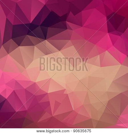Polygon Abstract Texture In Pink Colors Background For Web Design