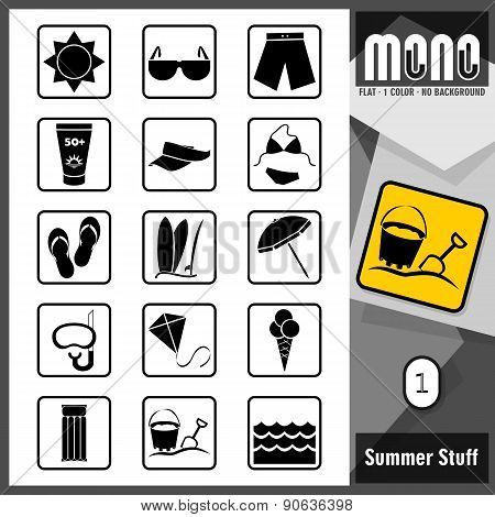 Mono Icons - Summer Stuff 1