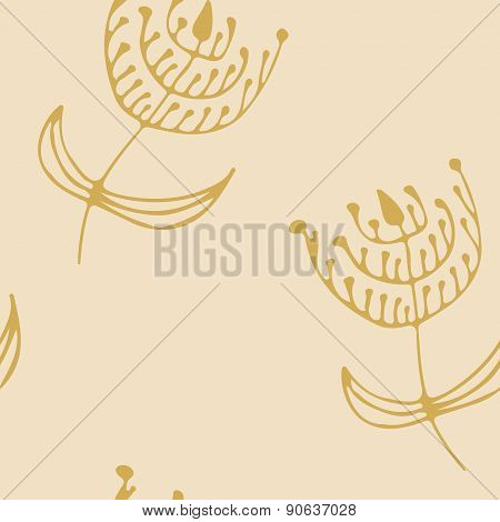 Endless floral pattern.Template for design and decoration.