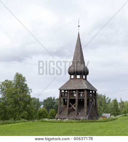 Wooden belfry from 1770.