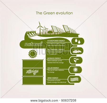 infographics renewable nature.