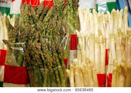 Green And White Sparrow Grass On Market Stall