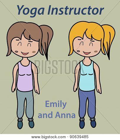 Yoga Instructor Illustration Sport, Stretch, Thin, Training
