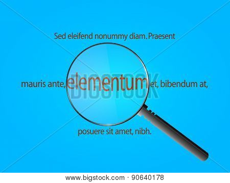 Magnifier And Sample Text