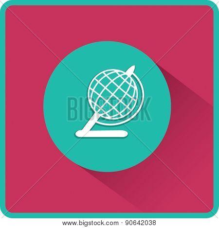 Globe illustration. Vector flat icon.