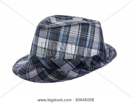 Summer Hat With Fields In A Cage Isolated On White Background