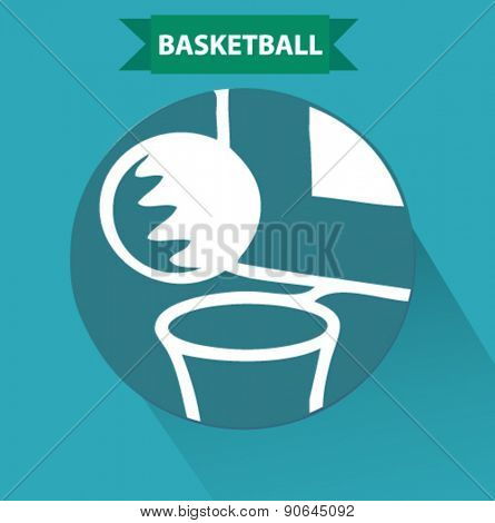basketball icon in flat design